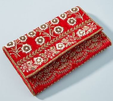 BELLA BEADED VELVET BOHO CLUTCH FROM ANTHROPOLOGIE