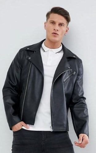 FAUX LEATHER BIKER JACKET FROM ASOS