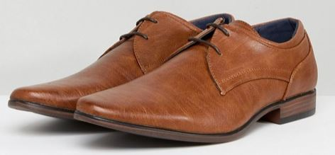 FAUX LEATHER DERBY SHOES BY RIVER ISLAND