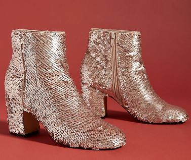 LINDA SEQUIN BOOTIES BY FARYLROBIN