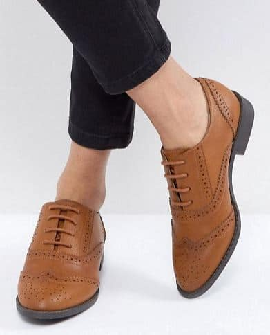 MANIC FLAT BROGUES BY ASOS DESIGN - best vegan shoe brands for dressy shoes