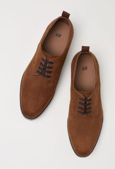 MENS CASUAL FAUX LEATHER OXFORD SHOES FROM H&M
