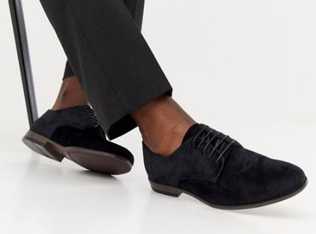 MENS EMBOSSED VELVET OXFORDS BY BOOHOOMAN
