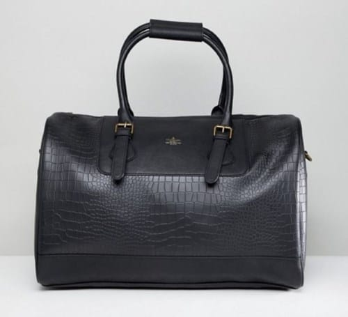 MENS FAUX CROC CARRYALL BY ASOS DESIGN