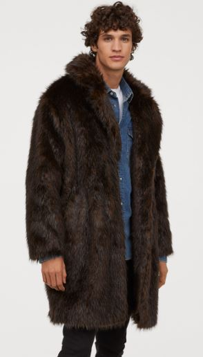 MENS FAUX FUR COAT FROM H&M