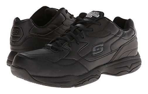 MENS FELTON FAUX LEATHER WORK SHOES BY SKETCHERS