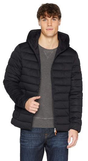 MENS HOODED PUFFER COAT BY SAVE THE DUCK