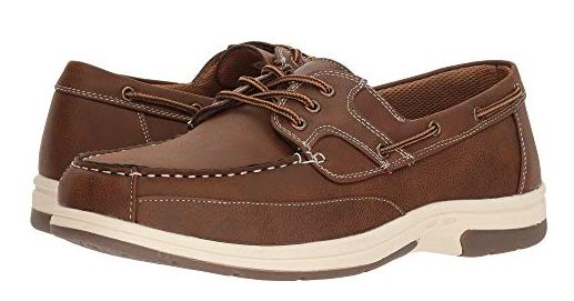MENS MITCH OXFORD FAUX LEATHER BOAT SHOES BY DEER STAGS