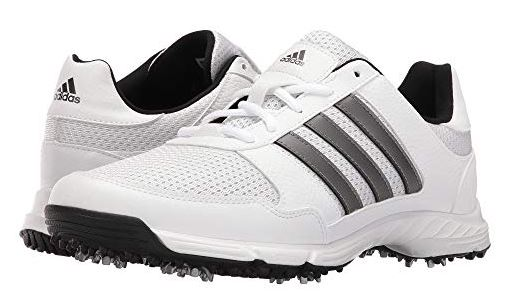 MENS TECH RESPONSE THREE STRIPE GOLF SHOES BY ADIDAS - vegan shoes for golf