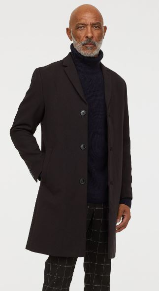 MENS VISCOSE BLEND COAT FROM H&M