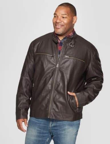 MENS WAXY MOTO JACKET BY GOODFELLOW & CO