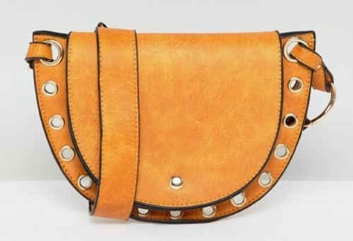 STUDDED FAUX LEATHER SADDLE BAG BY YOKI