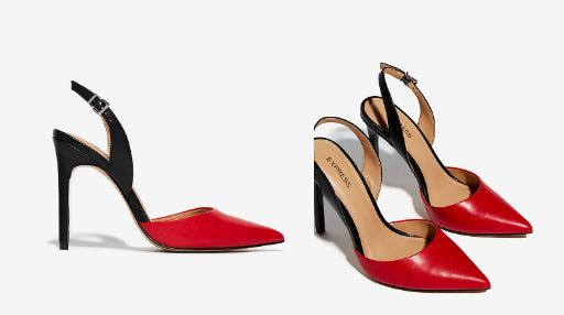 TWO TONE SLINGBACK PUMPS FROM EXPRESS