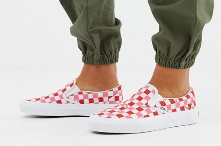 UNISEX EXCLUSIVE CHECKERBOARD SLIP-ONS FROM VANS