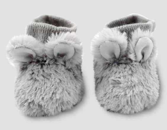UNISEX INFANT FAUX FUR BUNNY BOOTIES BY CLOUD ISLAND