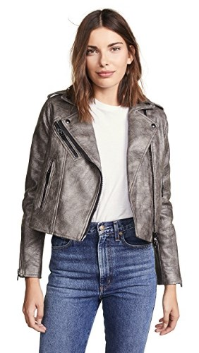 VEGAN CROC METALLIC JACKET BY BLANK DENIM