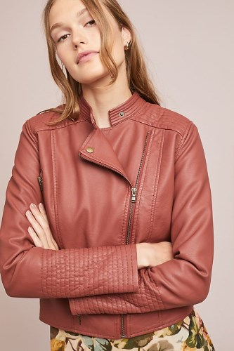 VEGAN LEATHER MOTO JACKET FROM ANTHROPOLOGIE