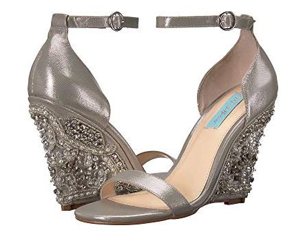 WOMENS ALISA CRYSTAL WEDGES FROM BLUE BY BETSEY JOHNSON