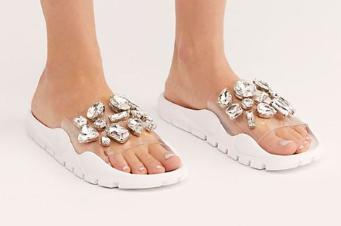 WOMENS ASPIC JEWEL RHINESTONE SANDALS BY JEFFREY CAMPBELL