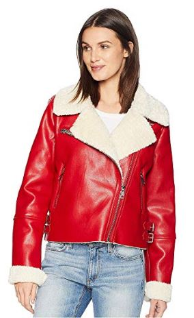 WOMENS FAUX SHERPA JACKET BY BLANK NYC