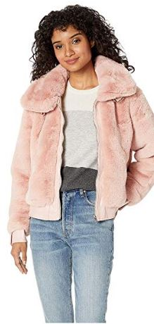 WOMENS PINK BOMBER JACKET BY BLANK NYC