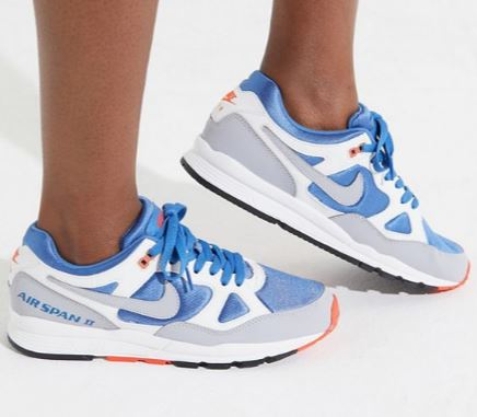 WOMENS VINTAGE INSPIRED AIR SPAN II SNEAKERS FROM NIKE