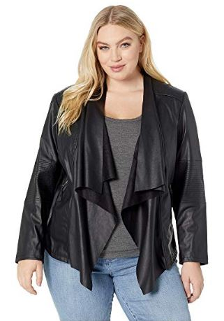 WOMENS WATERFALL FAUX LEATHER JACKET FROM LEVIS