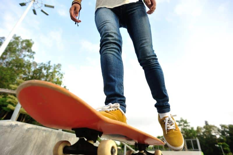 riding with vegan skateboarding shoes