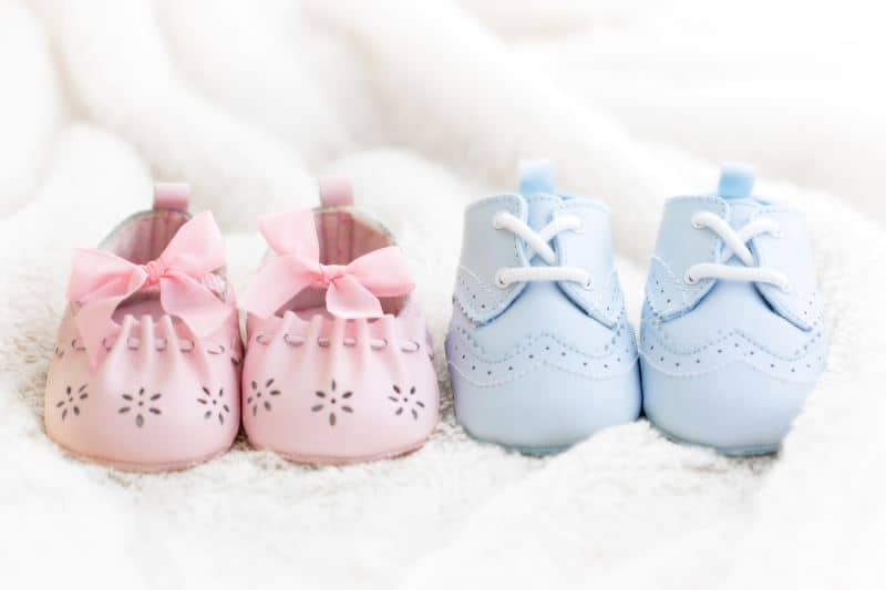 vegan baby shoes lined up