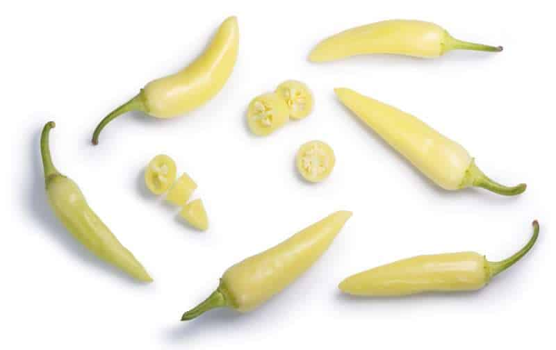 whole and sliced banana peppers