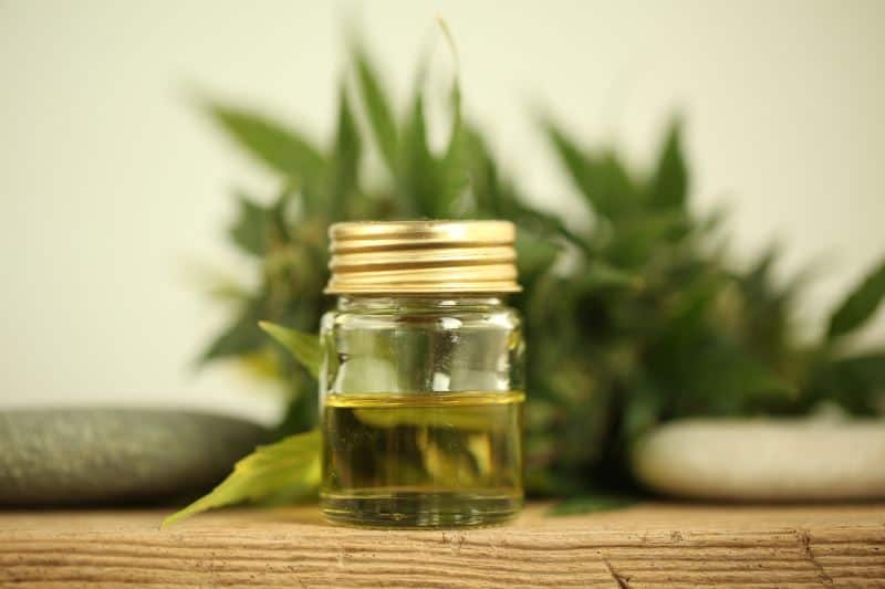 cbd oil in a jar