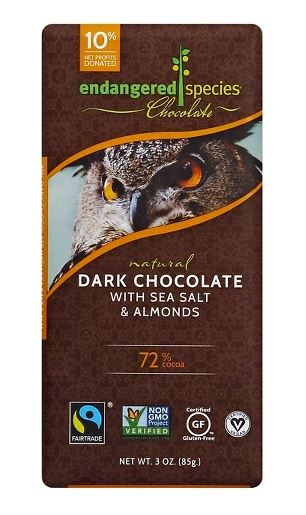 Endangered Species Dark Chocolate with Sea Salt & Almonds
