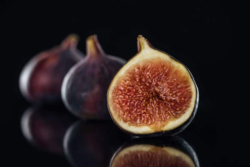 Fresh Figs cut open so you can see the center