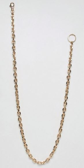 GOLD TONE CHUNKY WALLET CHAIN BY ASOS DESIGN