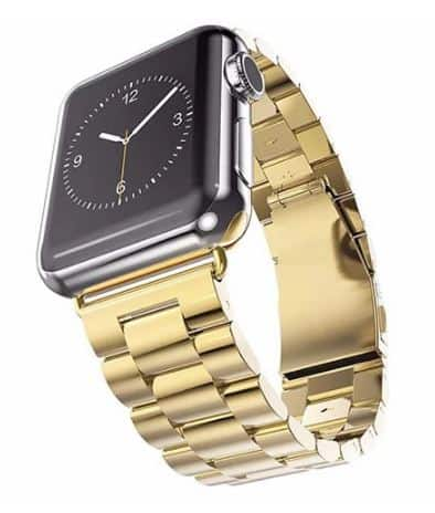 GOLD TONE STAINLESS STEEL APPLE WATCH STRAP BY IPM