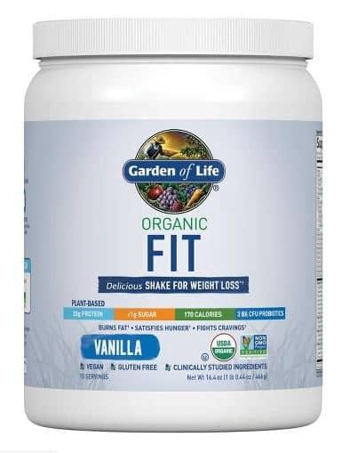 Garden of Life Organic Fit Vanilla Protein Powder