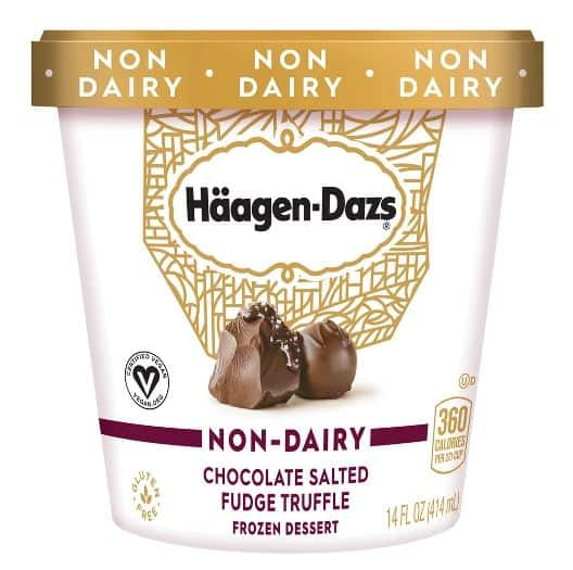 HÄAGEN-DAZS CHOCOLATE SALTED FUDGE TRUFFLE NON-DAIRY ICE CREAM