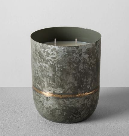 Hearth & Hand with Magnolia Galvanized Metal Container Soy Candles
