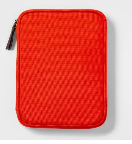 MENS ORANGE TECH ORGANIZER TRAVEL WALLET BY GOODFELLOW & CO