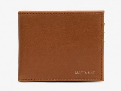 MENS VINTAGE COLLECTION BROWN RUBBEN BIFOLD WALLET BY MATT & NAT