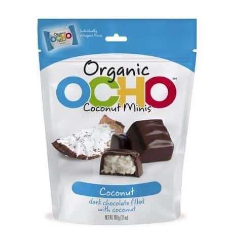 OCHO DARK CHOCOLATE AND COCONUT MINI CANDY BARS