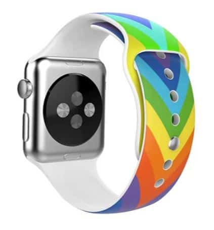 SILICONE RAINBOW APPLE WATCH STRAP BY IPM