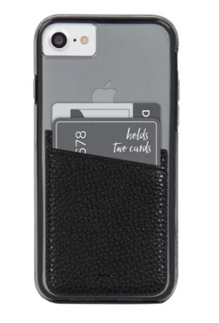 SIMPLE BLACK FAUX LEATHER CARD HOLDER BY CASE-MATE