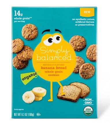SIMPLY BALANCED BANANA BREAD WHOLE GRAIN COOKIES