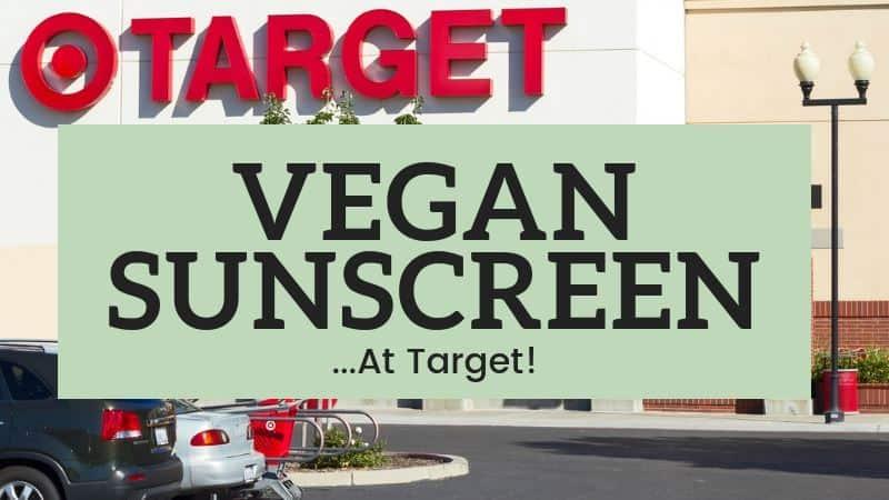 Vegan Sunscreen at Target