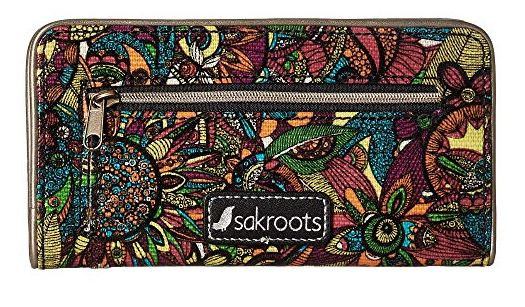 WOMENS BRIGHT RAINBOW SPIRIT DESERT SLIM WALLET BY SAKROOTS