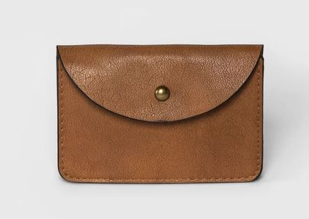 WOMENS BROWN FAUX LEATHER CARD WALLET BY UNIVERSAL THREAD
