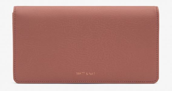 WOMENS DWELL COLLECTION ROSY CLAY NOCE WALLET BY MATT & NAT