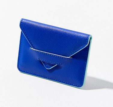 WOMENS ELECTRIC BLUE ENVELOPE CARD CASE FROM URBAN OUTFITTERS