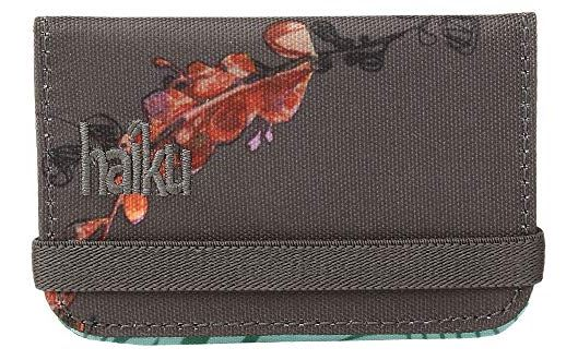 WOMENS GRAY FLORAL RFID MINI MINIMALIST WALLET BY HAIKU